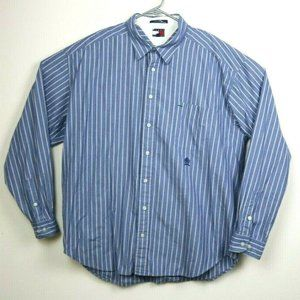 Tommy Hilfiger Mens Shirt Long Sleeve Striped XXL
